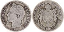France 2 Francs Napoléon III - Armoiries 1866 A Paris
