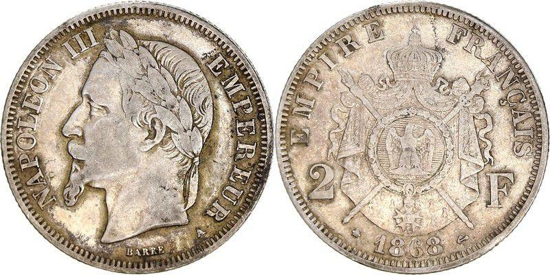 France 2 Francs Napoléon III - Armoiries 1868 A
