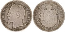 France 2 Francs Napoléon III - Armoiries 1868 A