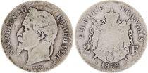 France 2 Francs Napoléon III - Armoiries 1869 A