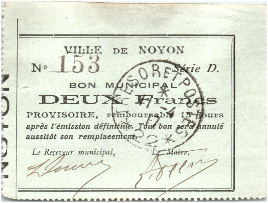 France 2 Francs Noyon City