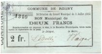 France 2 Francs Regny City - 1915