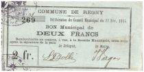 France 2 Francs Regny City - 1915