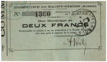 France 2 Francs Saint-Simon Commune - 1914