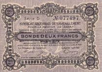 France 2 Francs Sedan Synd. de ravitaillement