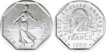 France 2 Francs Seed sower - 1989 UNC