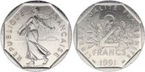 France 2 Francs Seed sower - 1991