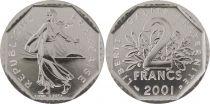 France 2 Francs Seed Sower - 2001 BU