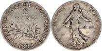 France 2 Francs Semeuse - 1898