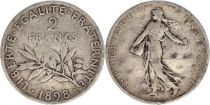 France 2 Francs Semeuse - 1898