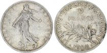 France 2 Francs Semeuse - 1900 - Argent