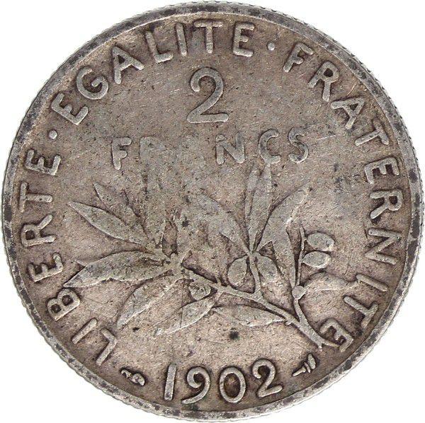 France 2 Francs Semeuse - 1902