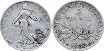 France 2 Francs Semeuse - 1904