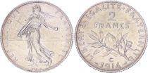 France 2 Francs Semeuse - 1914 C Castelsarrasin