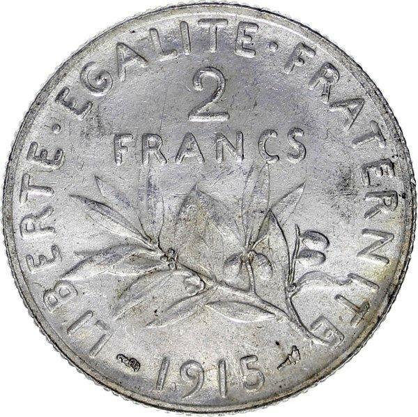 France 2 Francs Semeuse - 1915