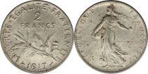 France 2 Francs Semeuse - 1917