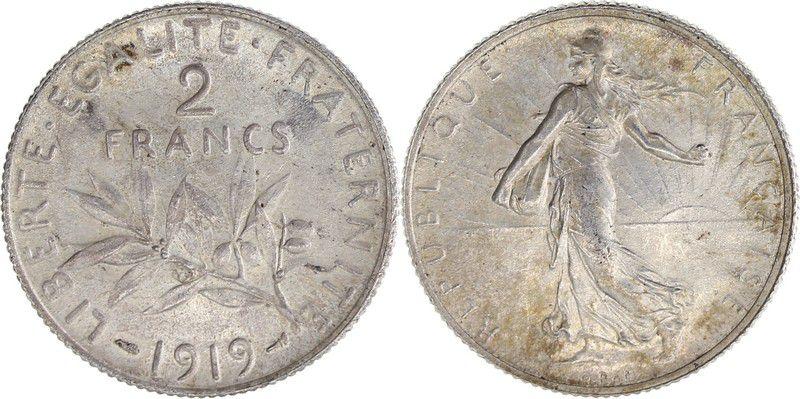France 2 Francs Semeuse - 1919