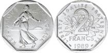France 2 Francs Semeuse - 1989 FDC - Issu de coffret