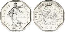 France 2 Francs Semeuse - 1991 frappe médaille