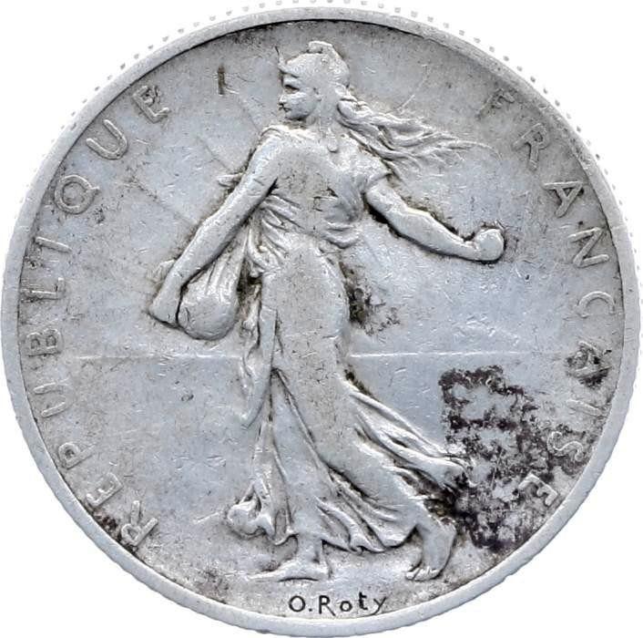 France 2 Francs Semeuse -1904