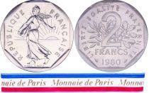France 2 Francs Semeuse Piéfort 1980 - sous sachet Monnaie de Paris - Argent