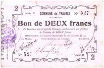 France 2 Francs Travecy City - 1915