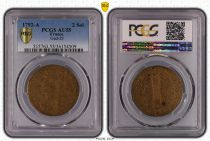 France 2 sols - Louis XVI - King of François - 1792 A - PCGS AU 55