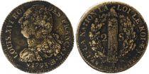 France 2 Sols - Louis XVI - Roi des Français - 1793 BB