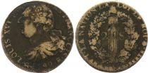 France 2 Sols - Louis XVI - Roi des François - 1792 B Rouen