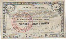 France 20 cent. 70 communes