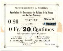 France 20 Centimes Braux Commune - 1914 - 1915