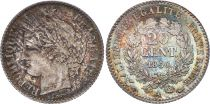 France 20 Centimes Ceres - 1850 A Paris Silver 3 th ex