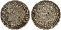 France 20 Centimes Ceres - 1850 A Paris Silver