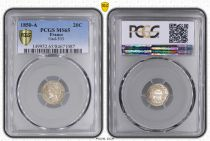 France 20 Centimes Ceres - II e Republic - 1850 A - PCGS MS 65