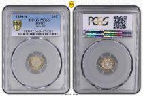 France 20 Centimes Ceres - II e Republique - 1850 A - PCGS MS 66