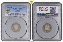 France 20 Centimes Ceres - II e Republique - 1850 A - PCGS MS 66