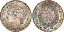 France 20 Centimes Cérès 1850 A Paris Argent - 2 ex