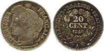 France 20 Centimes Cérès 1850 A Paris Argent
