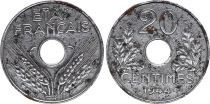 France 20 Centimes Etat Francais - 1944 in Iron - VF