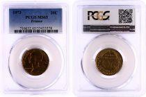France 20 Centimes Lagriffoul - 1973 - PCGS MS 65