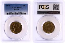 France 20 Centimes Lagriffoul - 1973 - PCGS MS 66