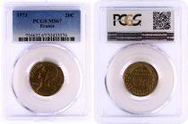 France 20 Centimes Lagriffoul - 1973 - PCGS MS 67