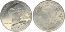 France 20 Centimes Marian - 1971 Piefort Silver - UNC