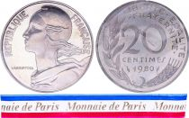 France 20 Centimes Marian Piéfort 1980 - Silver