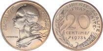 France 20 Centimes Marianne - 1973 - FDC issu de coffret