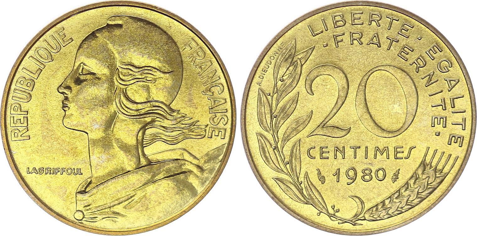 France 20 Centimes Marianne - 1980 issu de coffret