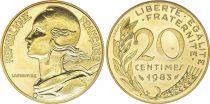 France 20 Centimes Marianne - 1983 issu de coffret