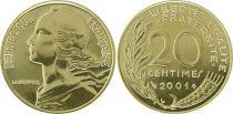 France 20 Centimes Marianne - 2001 Frappe BU