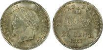 France 20 Centimes Napoléon III Tête Laurée - 1867 A - PCGS MS 64