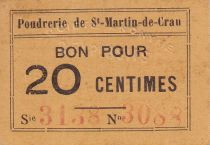 France 20 Centimes Saint-Martin-de-Crau Poudrerie